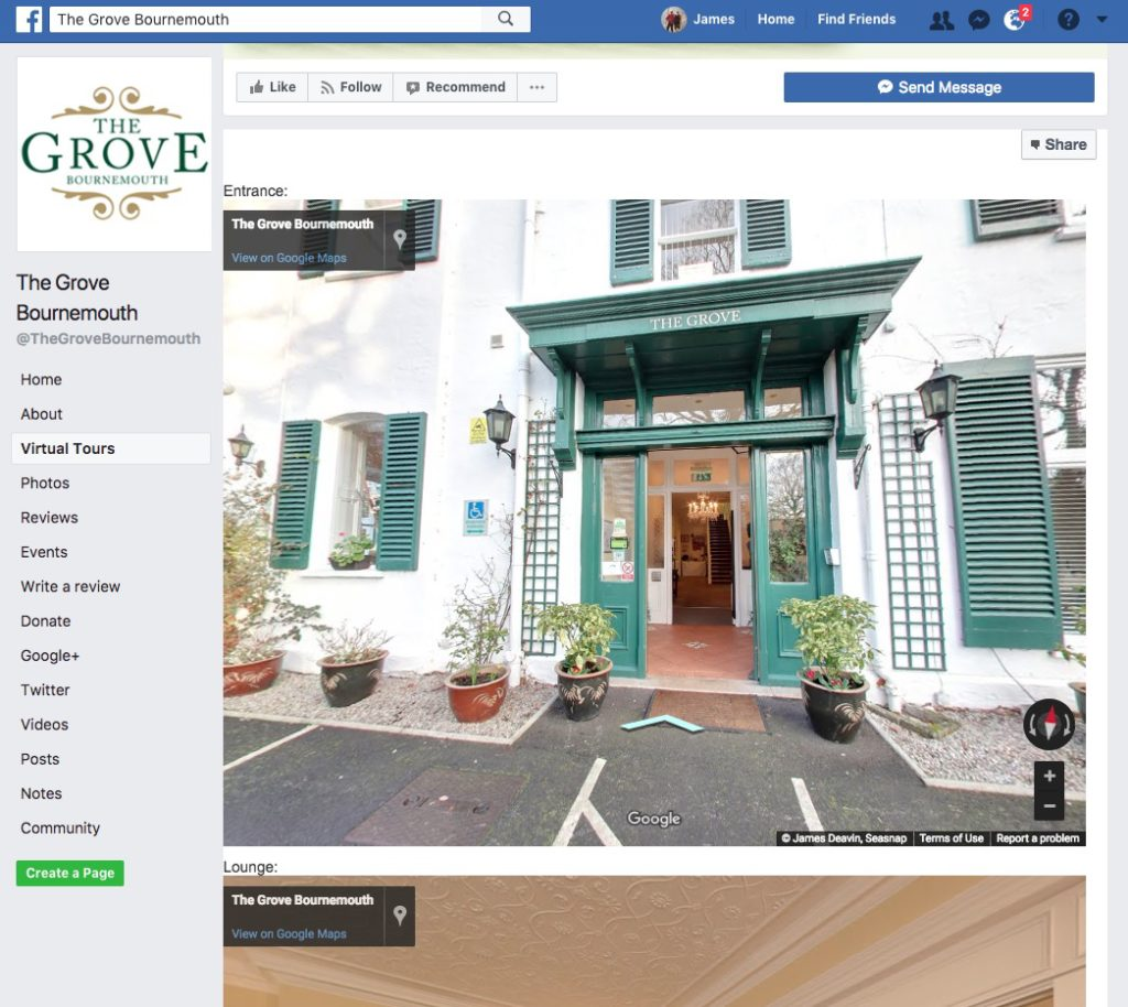 street view trusted google virtual tour facebook embed deavin seasnap